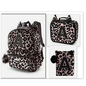 Justice Cheetah Sequin Backpack Lunch box Journal